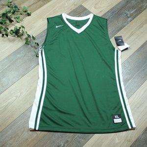 Nike Sleeveless Basketball Jersey  XL Green